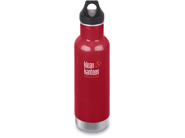 Klean Kanteen Classic Vacuum Insulated Bottle Loop Cap 592ml, mineral red